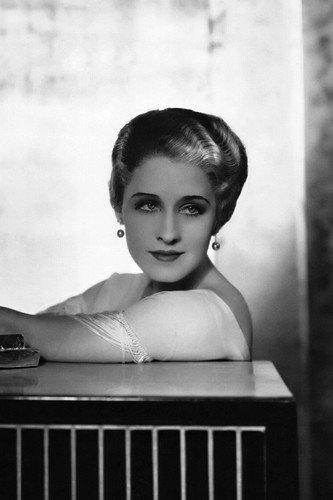 Norma Shearer in Strange Interlude styled hair wearing dangling earrings 24x36 Poster