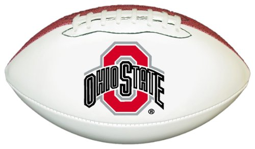 Ohio State Buckeyes Official Size Synthetic Leather Autograph Football