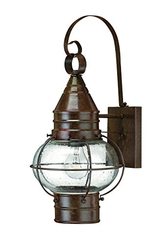 Hinkley 2200SZ Rustic One Light Wall Mount from Cape Cod collection in Bronze/Darkfinish, ()