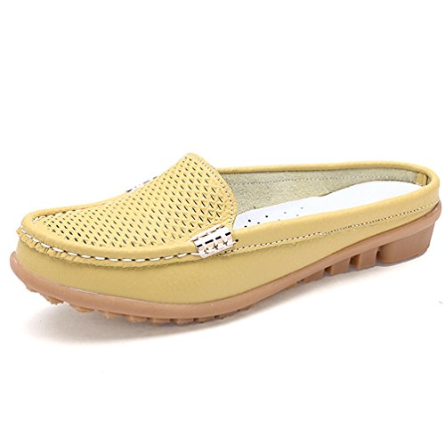 Ocio De Madre Mocasines Calzado Zapatos Suave Amarillo De La Mujer MocasíN Cuero De Reales gwdq7wC