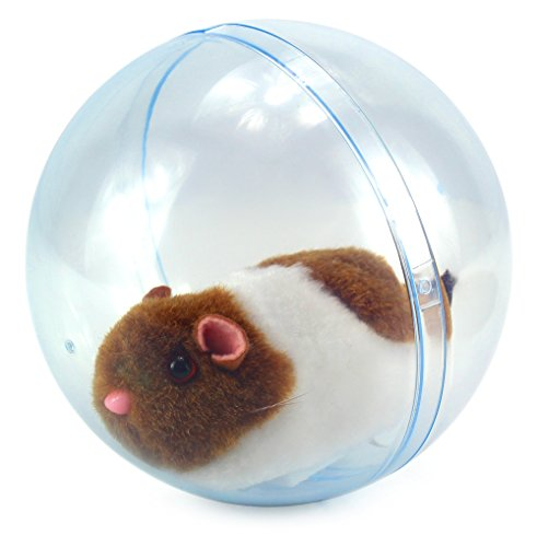 - Velocity Toys Happy Hamster Rolling Exercise Clear Ball Children's Kid's Electronic Toy Pet Playset w/ Hamster, Clear Ball (Colors May Vary)