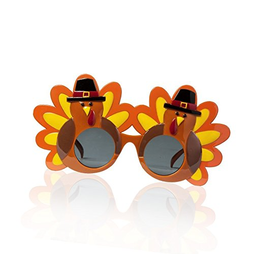 Funny Creative Cartoon Turkey Man Glasses Happy Thanksgiving Party Sunglasses Eyeglasses for Costume Birthday Parties Gifts Party Decoration Party Supplies - Cartoon Sunglasses