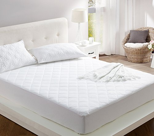 Byourbed 100% Cotton Fill - All Around Cotton Full Mattress Pad