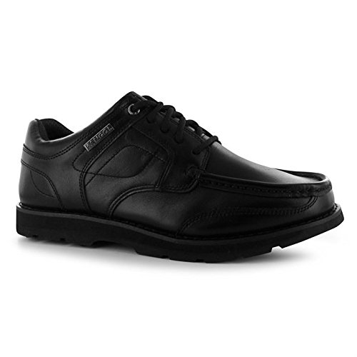 08e53d18 Kangol Kids Harrow Lace Up Junior Shoes School Padded Tongue Ankle Collar  Black UK 6 (