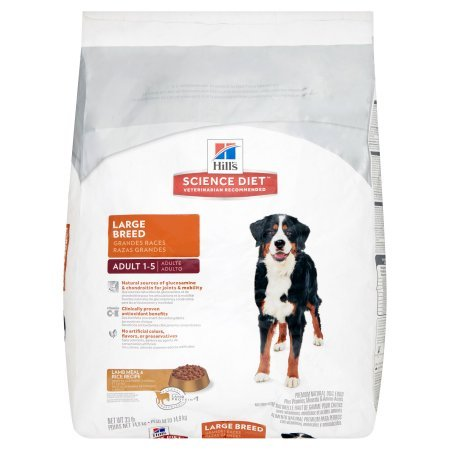 Hill's Science Diet Adult 1-5 Large Breed Lamb Meal & Rice Recipe Premium Natural Dog Food, 33 lb by Science Diet
