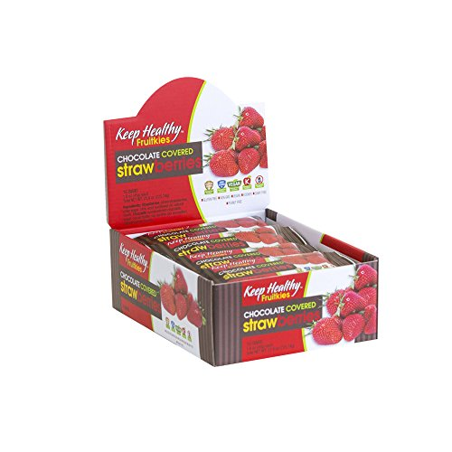 Keep Healthy Chocolate Covered Strawberries Fruit Bars | Certified Non-GMO, Vegan, Gluten Free, Kosher | 1.6-Ounce 16 Bars per Box