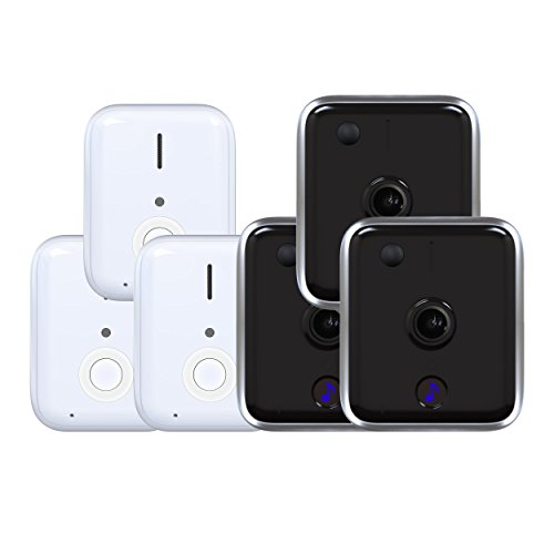 iseeBell WiFi Video Doorbell Security Cam 3 Pack, With Bonus Indoor Wireless Chime, HD, Motion Detection, Cloud Recording/Storage, IR Night Vision, for iOS/Android, All Tools Included[Hard Wire] by IseeBell