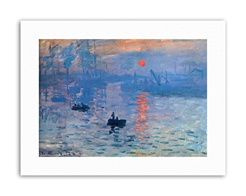 Wee Blue Coo Claude Monet Impression Sunrise Poster Painting Old Master Canvas Art (Impression Sunrise Blue Poster)