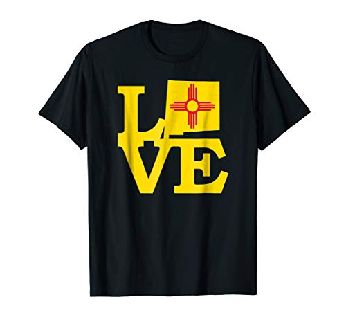 New Mexico Flag Shirt I Love New Mexico State Zia Symbol Tee ()