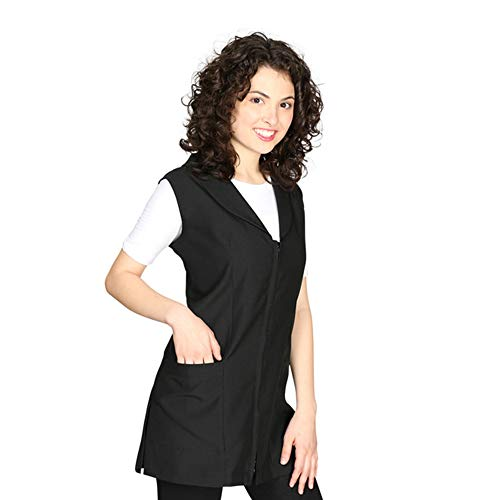 Smockers Gwen Professional Salon Vest, Stylist Vest, Cosmetology Uniform Black