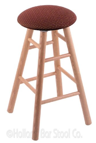 Oak Extra Tall Bar Stool in Natural Finish with Axis Paprika Seat price