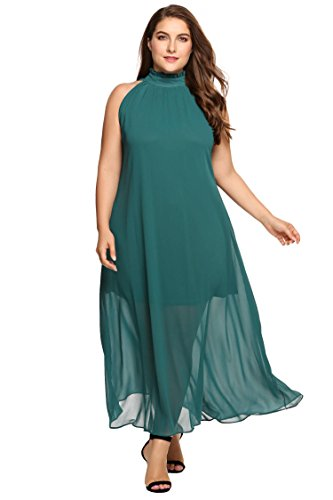 Zeagoo-Womens-Plus-Size-Chiffon-Sleeveless-Maxi-Formal-Dresses-Solid-Belted-Party-Dress