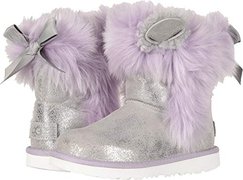 (UGG Kids Maizey Classic II Boot Silver/Lavender)