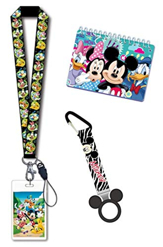 Disney Trip Mickey Mouse Minnie Donald Goofy Daisy Bundle- Autograph Book, Lanyard and Bottle Holder Disney Cruise Trip Accessories