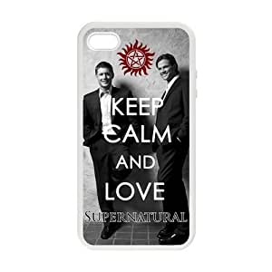Love Sammy and Dean Supernatural Hunters Cover Case for iPhone 4/4s (Laser Technology)