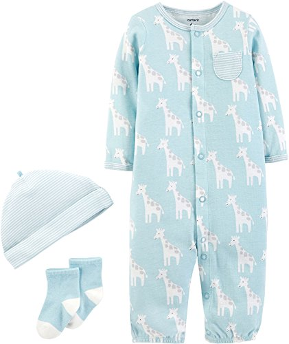 Carters Baby Boys 3-pc. Giraffe Take Me Home Layette Set 3 Month Blue/White