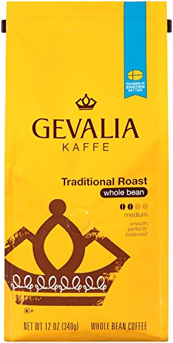 GEVALIA Traditional Roast Coffee,  Mild, Whole Bean, 12 Ounce ()