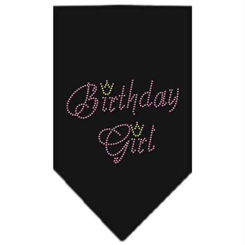 Mirage Pet Products Birthday Girl Rhinestone Bandana, Large, Black