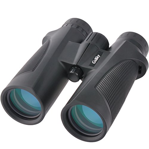- Gosky Skybird 10X42 Waterproof Prism Bird Watching Binocular - Ideal for Outdor Hiking,Hunting,Climbing,Birdwatching Watching Wildlife and Scenery, Sports Games and Concerts