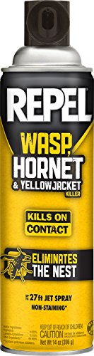Repel 94124 Wasp Hornet and Yellow Jacket Aerosol, 14-Ounce