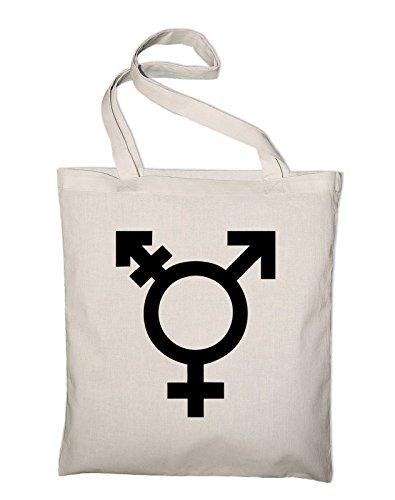 Transgender In Cotton Logo Pocket Bag Symbol Bag Natural Gender Yellow yellow And Jute Styletex23bagtransgender8 Fabric rwrBxFq