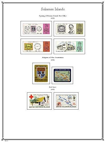 PALO Solomon Islands 1907-1995 hingeless Stamp Album Pages