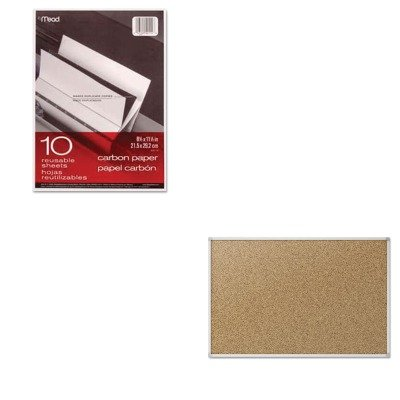 KITMEA40114MEA85362 - Value Kit - Quartet Cork Bulletin Board (MEA85362) and Mead Black Carbon Mill Finish Paper (MEA40114) by Quartet