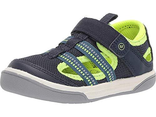Stride Rite baby-boy's Liam Sandal, navy 8 W US Toddler (Girl Shoe Size To Boy Shoe Size)
