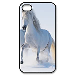 Vinceryshop Horse IPhone 4/4s Cases 2 Horses, Girls Protective Horse, {Black} by ruishername
