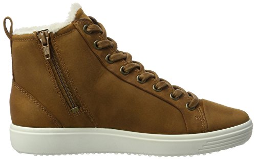 Ecco Ladies Soft 7 Ladies High Sneaker Brown (ambra)