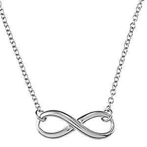 """Sterling Silver 16 + 2"""" Extension Infinity Figure 8 Necklace"""