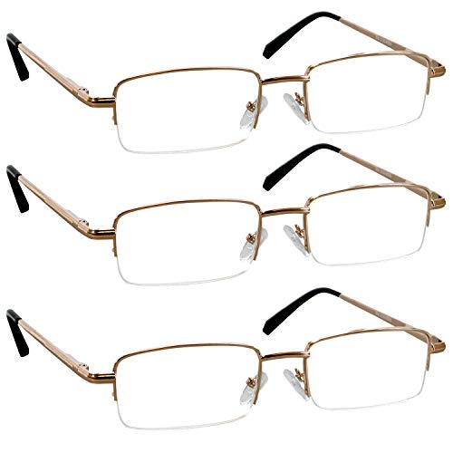 Reading Glasses – Readers with Comfort Spring Hinges for Men and Women by TruVision Readers – 9509HP