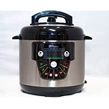 Uber Appliance UB-CK1 Uber Cook 7-in-1 Multi-Functional Electric Pressure Cooker with Programmable Options 6-Quart/1000 Watt (Stainless Steel)