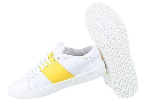 Damen Freizeitschuhe Schuhe Sneakers Sportschuhe Turnschuhe Turnschuhe Gelb  ...