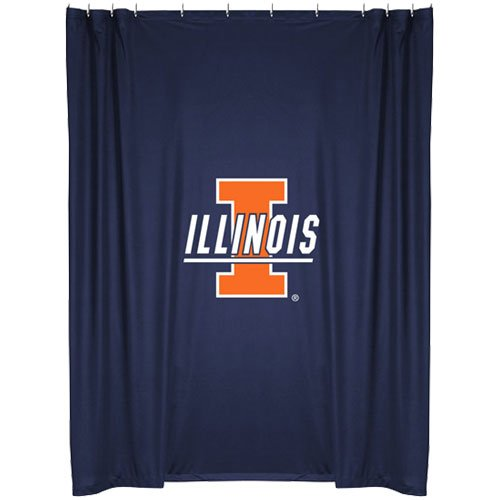 Illinois Fighting Illini COMBO Shower Curtain & Valance Set - Decorate your Shower and Bathroom Window & SAVE ON BUNDLING! by Sports Coverage