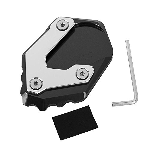 New Motorcycle Accessories motorbike Side Stand Enlarger Kickstand Extension Plate for BMW R1200GS LC 2013-2018, Not for R1200GS Adventure LC (Black)