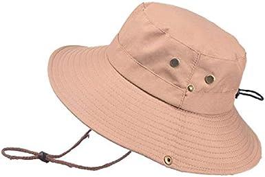 Shentukeji Leggero Cappello da Sole per Donna Uomo Cappello a Secchiello Mesh Cappello Estivo con Cappuccio Estivo