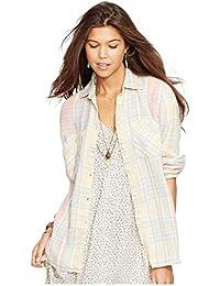 Denim \u0026 Supply Ralph Lauren Womens Plaid Boyfriend Fit Button-Down Top