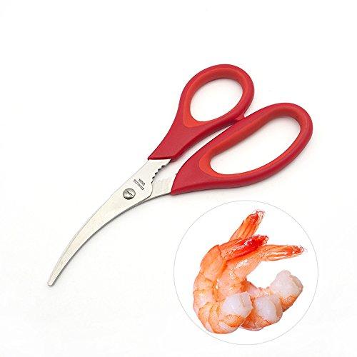 TURATA Heavy Duty Kitchen Scissors /& Seafood Shears Set 100/% Food Grade Steel,
