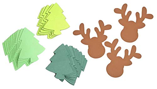 - 60 Piece Large Foam Christmas Trees and Reindeer Heads