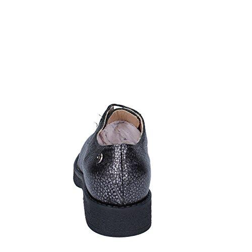 Piel Liu Cordones Gris De Jo Zapatos Para Jeans Mujer AA4gO