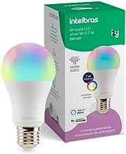 Smart Lâmpada Inteligente Intelbras EWS 410 com 16 milhões de cores, 10W, Casa Inteligente Wi-Fi, compatível c