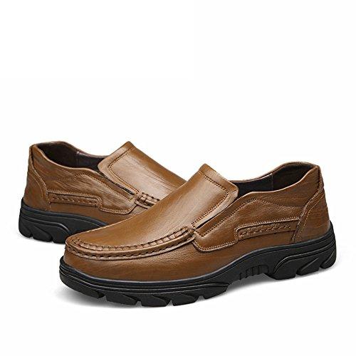 Mocasines Stutio Slip Zapatos Ons de para de Moda SK Zapatillas Conducción Loafers Casual Caqui Plano Cuero Hombre 5dq6npw