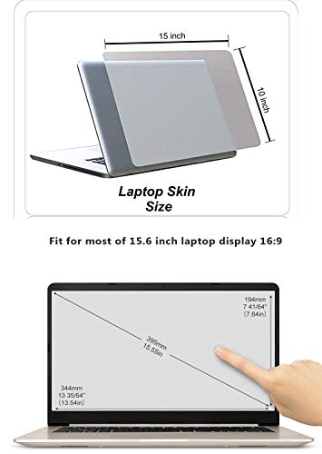 Ramiya 3 in 1 Combo - Laptop Screen Guard Keyboard Protector and Laptop Skin for All Laptop Accessories Combo Kit Size 15.6