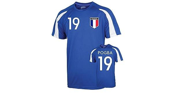 cac2d5b0a9c Amazon.com   UKSoccershop France Sports Training Jersey (Pogba 19) - Kids    Sports   Outdoors