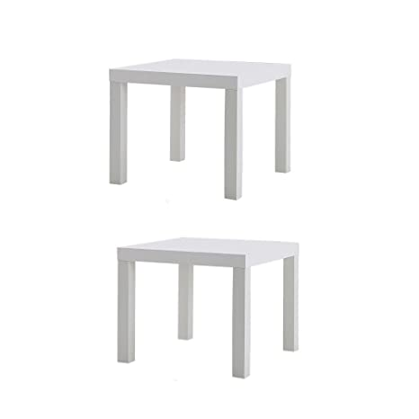 Fantastic Ikea Table End Side White 2 Pack Lack Gmtry Best Dining Table And Chair Ideas Images Gmtryco