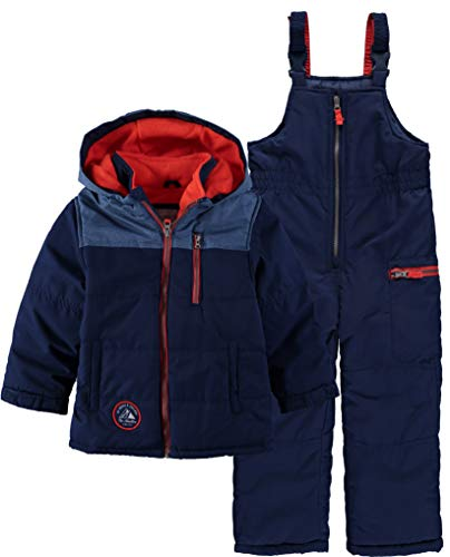 Carter's Boys' Heavyweight 2-Piece Skisuit Snowsuit (Navy/Orange, ()