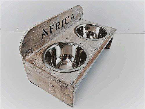 Comedero para perros y gatos Ciro solapa Banco vintage