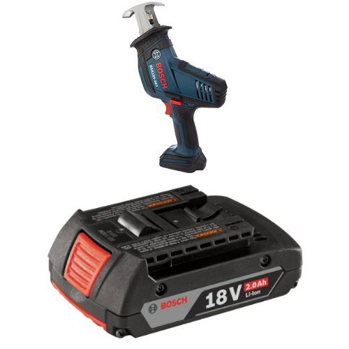 Bosch GSA18V-083B 18 V Compact Reciprocating Saw Bare Tool with 2.0 AH battery