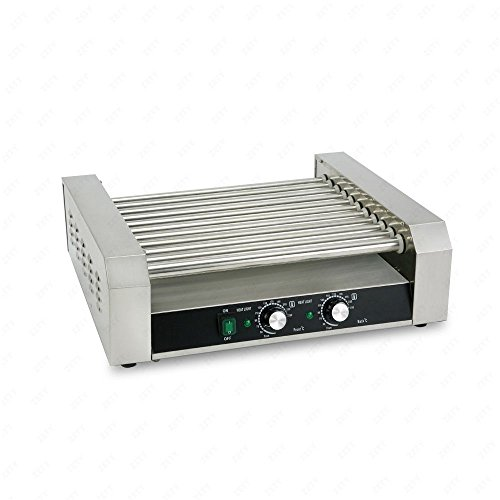 Senrob Electric 30 Hot Dog 11 Roller Grill Cooker Machine 2200-Watt with Cover for Commercial and Household Uses by Senrob (Image #7)